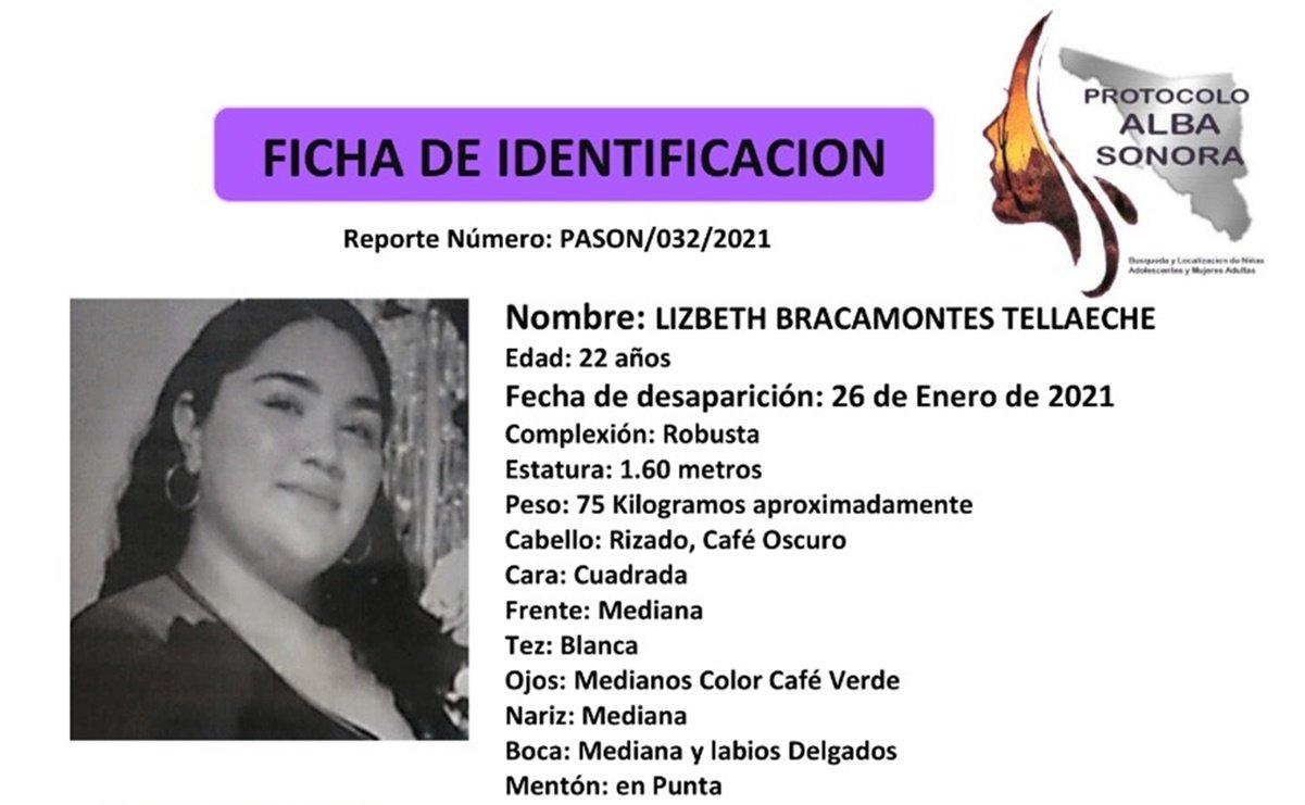 Activan Protocolo Alba en Sonora por desaparición de joven Lizbeth