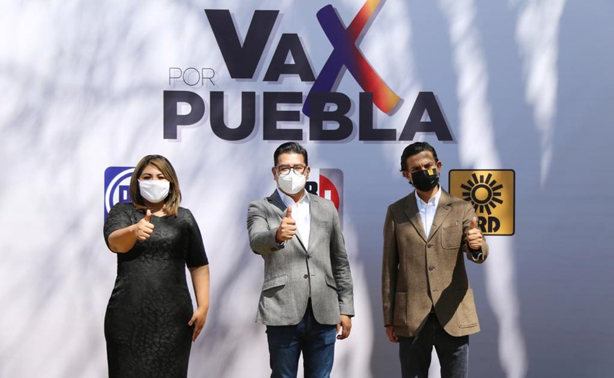 PAN, PRI y PRD firman coalición opositora en Puebla