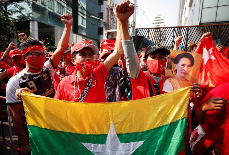 Birmania vive una jornada de huelga general en protesta por el golpe