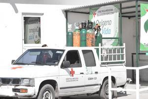 Mantiene Cruz Roja apoyo en renta de cilindros de oxígeno