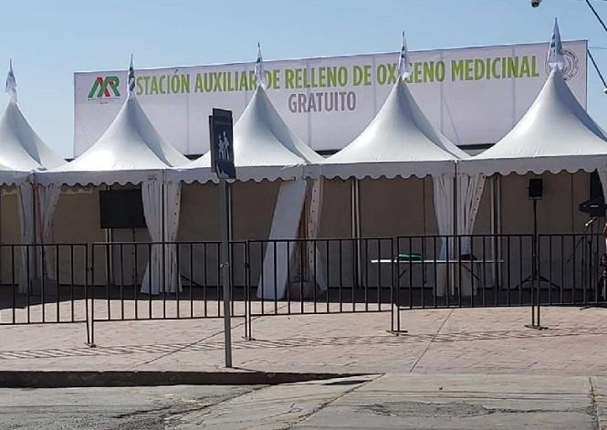 Instalan estación de oxígeno medicinal gratis en Hidalgo
