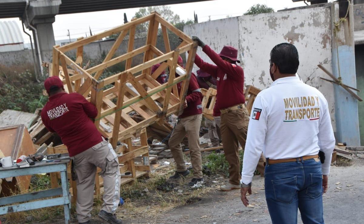 Retiran a recolectores de residuos en el Gran Canal en Ecatepec