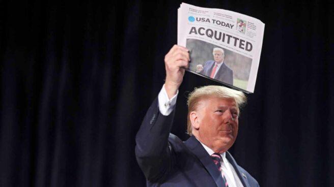 Trump aplaude su absolución y avisa de que su movimiento 'acaba de empezar'