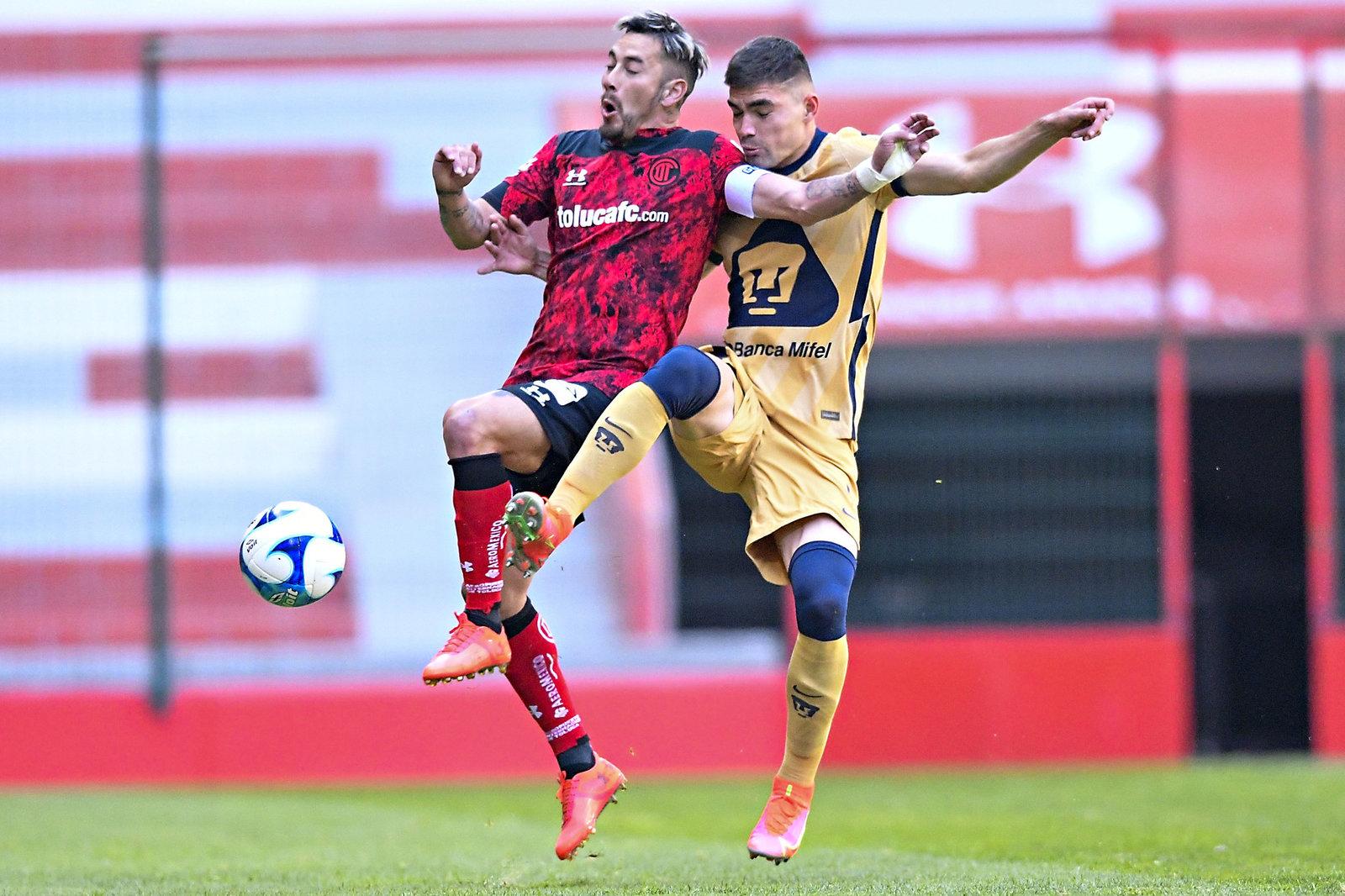 Apretado triunfo de Toluca ante Pumas