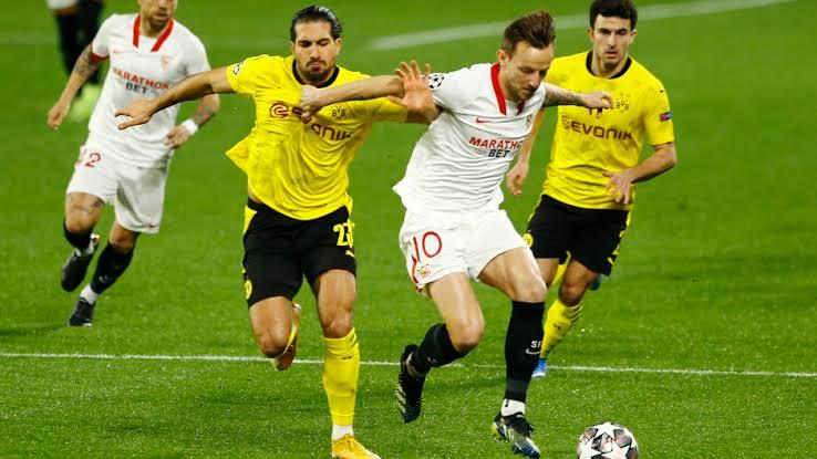 1-3 lo pierde el de Sevilla ante el Dortmund al medio tiempo