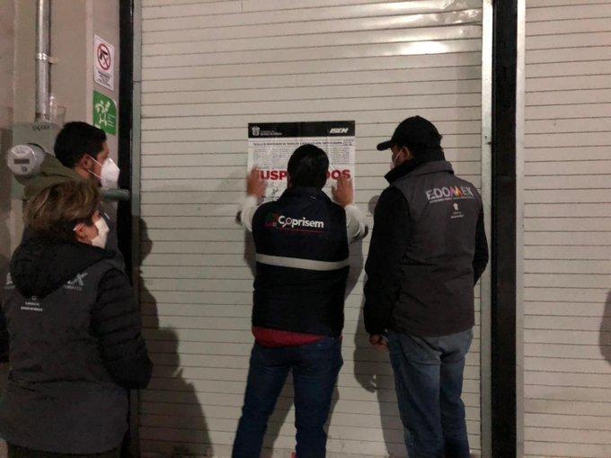 Suspenden 15 bares y antros en Edomex por incumplir medidas sanitaria