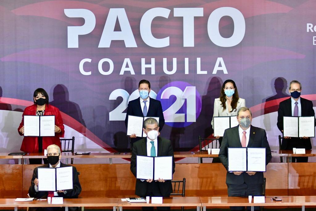 No cederá el estado a chantajes, se consolida pacto por Coahuila