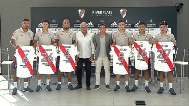 River Plate presenta a los seis refuerzos para la temporada de 2021