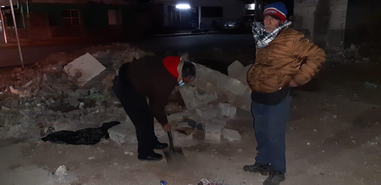 Encuentran a indigente a punto de congelarse