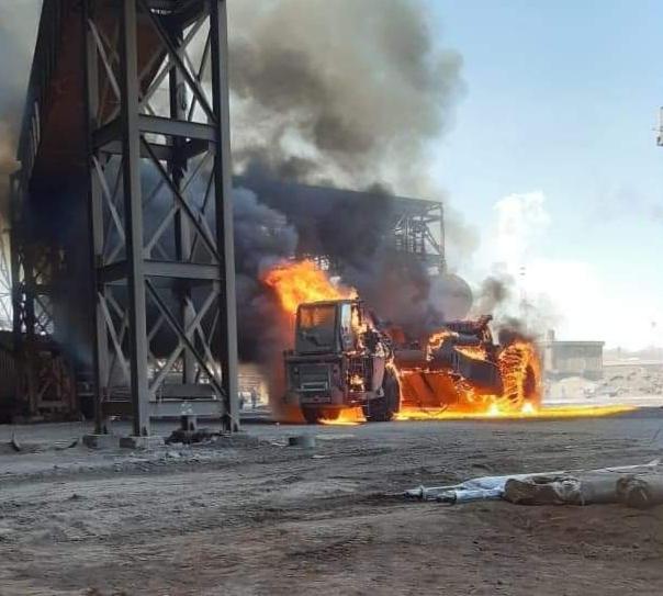 Derrame de arrabio provoca  un incendio en BOF de AHMSA 2