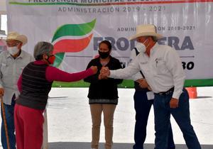 En marcha trabajos en la colonia Sierrita en Frontera