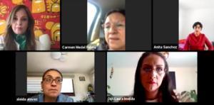 Diputadas de Morena se manifiestan contra Salgado
