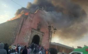 Daños incuantificables deja incendio a iglesia de la comunidad Nurio
