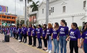 Colectivos feministas protestan en Sinaloa