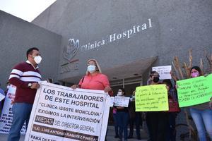 Con plantón permanente exigen el cese de directivos del ISSSTE en Monclova