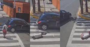 Abuela es atropellada por automovilista en Iztapalapa