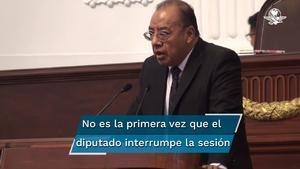 Diputado de Morena interrumpe sesión con groserías