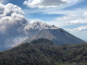 Volcán nicaragüense San Cristóbal regresa a la calma tras registrar explosión