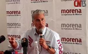 Morenistas interrumpen conferencia de Rojas Díaz Durán en SLP