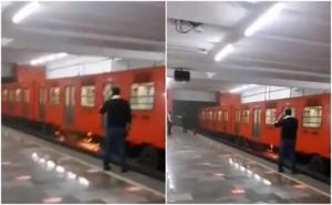 Reportan corto circuito en vagón del Metro Tacubaya