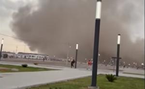 Tolvanera en aeropuerto Felipe Ángeles no dejó daños: Sedena