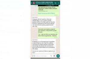 Pleito en WhatsApp entre diputados de Morena