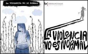 Con historieta y gráfico, arrancan campaña contra violencia de género