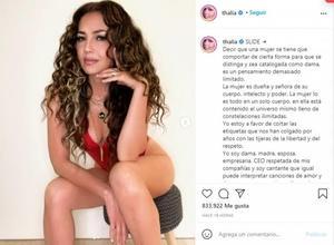 Thalía posa en traje de baño y en redes la desconocen