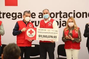 Recibe la Cruz Roja donativo de 11 mdp de contribuyentes en Coahuila