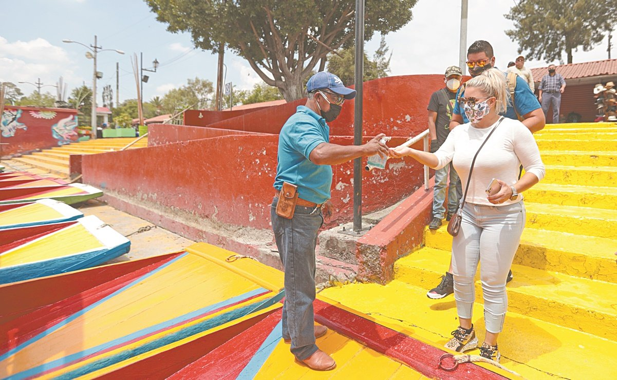 Sheinbaum rechaza uso obligatorio de cubrebocas en Xochimilco