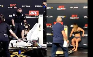 Peleadora de UFC se desmaya durante el pesaje