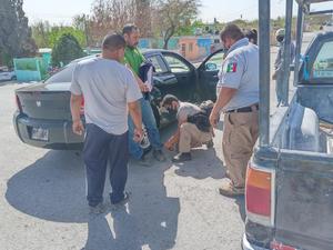 Derriban a motociclista en Castaños