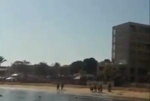 Registran en videos enfrentamientos armados en playa de Nayarit