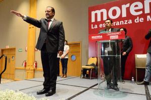 Rinde protesta Loera como candidato de Morena para Chihuahua