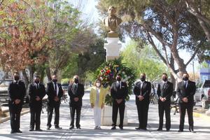Recuerdan natalicio 215 de Benito Juárez en San Buenaventura