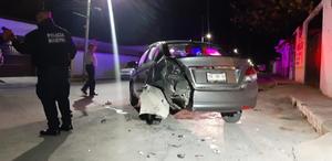 Provoca accidente en Monclova e intenta huir