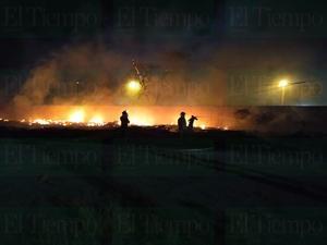 Incendio en patios de FERROMEX en Frontera fue provocado