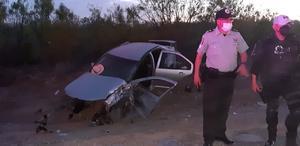 Potente encontronazo en carretera 30 de Frontera causa volcadura; hay tres lesionados de gravedad