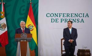 AMLO: Recibe al presidente de Bolivia en Palacio Nacional