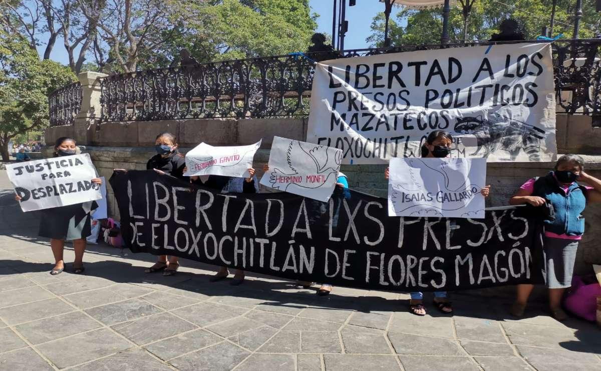 Exigen justicia para presos políticos de Eloxochitlán