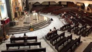 Misas de Semana Santa sólo tendrán el 25% de aforo