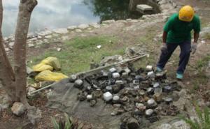 CFE investiga hallazgo de medidores de luz en cenote de Yucatán