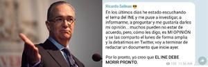 INE debe morir pronto: Ricardo Salinas Pliego