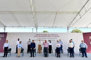 Encabeza AMLO inicio del proyecto de Agua Saludable para La Laguna