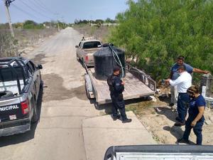 Consigna SIMAS a cinco por tomas de agua clandestinaen Frontera