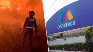Incendio en Fuentes del Pedregal alcanza parte de Tv Azteca
