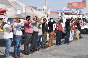 Banderazo al operativo  'Semana Santa Segura'  en Castaños