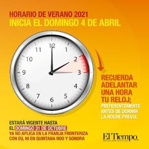Este domingo inicia el horario de verano; recuerda adelantar tu reloj