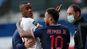 Neymar y Djalo casi llegan a golpes en el túnel de vestuarios