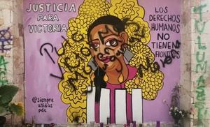 Vandalizan en Tulum mural dedicado a Victoria Salazar